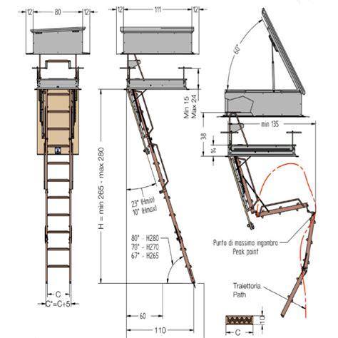 botole per terrazzi le misure della scala retrattile modello per terrazzo