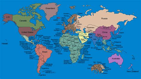 world map with every country name american empowerment aaeb january 2014