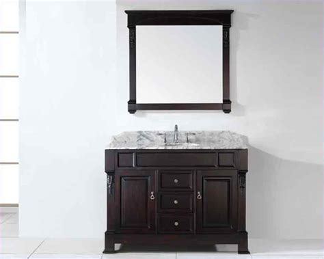 Rounded Bathroom Vanity Virtu Usa 48 Quot Sink Bathroom Vanity Huntshire In Gs 4048 Wmro Dw