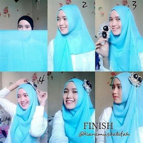tutorial membuat jilbab instan tutorial cara memakai kerudung dengan mudah jilbab instan
