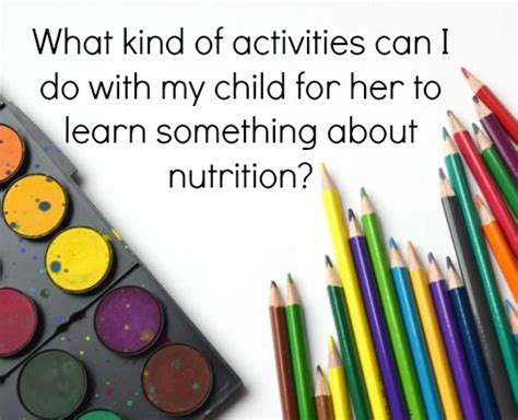 nutrition crafts for nutrition activities for