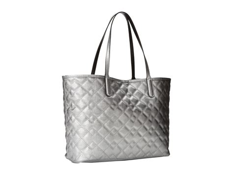Marc Metallic Quilted Leather Pouchette In Silver by Marc By Marc Metropolitote Quilted Metallic Tote 48
