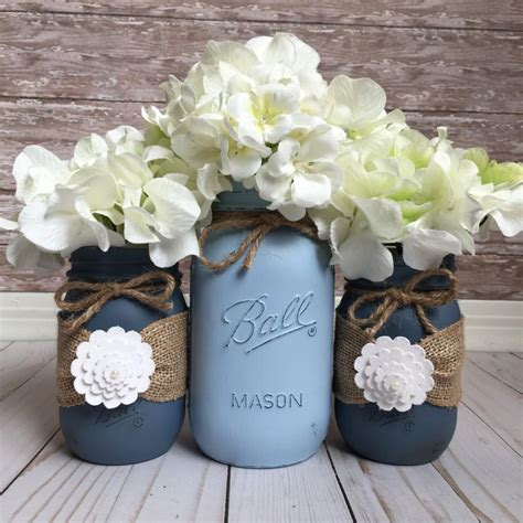 wedding jars painted jars wedding table