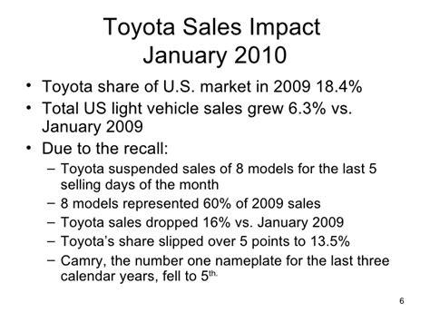 Unintended Acceleration Toyota S Recall Crisis Toyota Recall Analysis