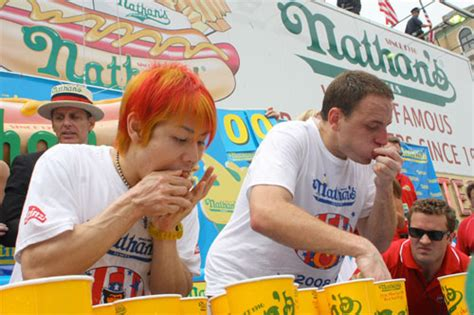 nathans famous hot dog eating contest tru school sports nathans famous hot dog eating contest