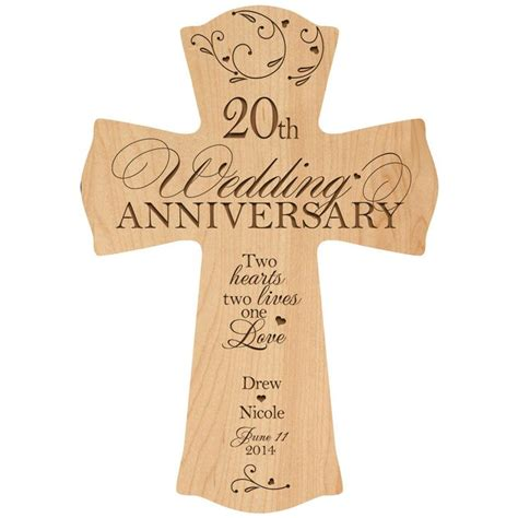 Wedding Anniversary Gift And by Personalized 20th Wedding Anniversary 20th Anniversary