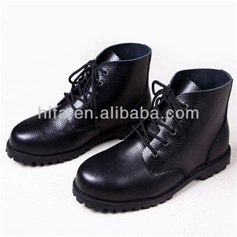 Sepatu Original Boots Circle Leather Safety Black leather security boots safety shoes black working shoes buy security boots leather