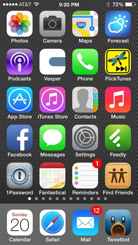 increasing the text size in ios 7 iphone j d