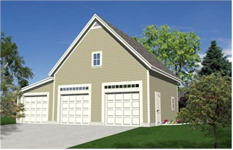 Free 3 Car Garage Plans by Garden Oak Expandable Three Car Garage Plans