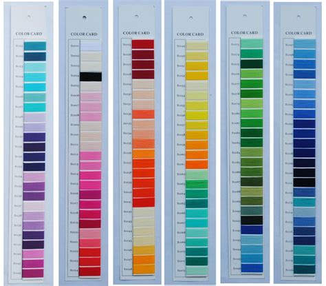 color card brand new polyester embroidery thread color chart rayon