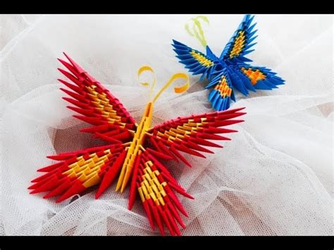 How To Make A 3d Origami Butterfly - origami motyl krok po kroku how to make a origami
