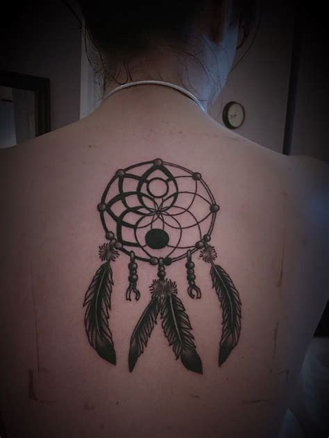 yin yang dreamcatcher tattoo 60 dreamcatcher tattoos to keep bad dreams away