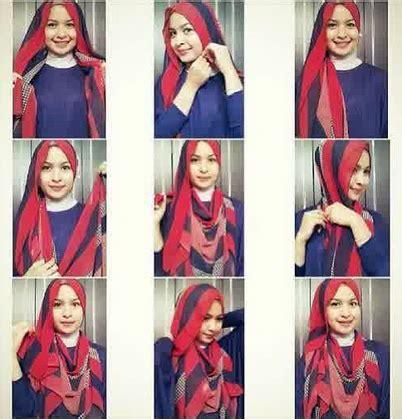 tutorial hijab syar i untuk remaja cara berhijab untuk perempuan brwajah lonjong