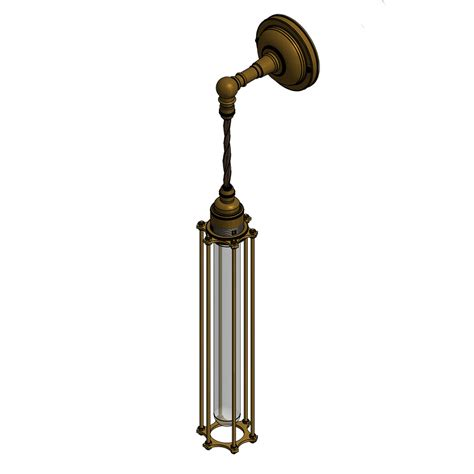 Pendant Wall Light Bronze Bulb Cage Wall Pendant L