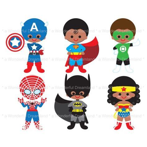 printable heroes pdf printable clip art digital pdf png file superhero super