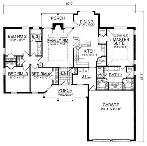 man cave floor plans houseplans com southern main floor plan plan 40 250
