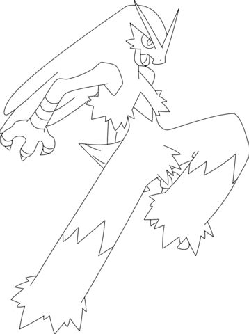 pokemon coloring pages mega blaziken blaziken coloring page free printable coloring pages