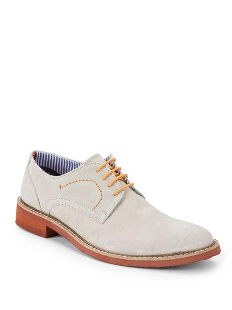 suede oxford shoes ben sherman flynn suede oxford shoes in beige for lyst