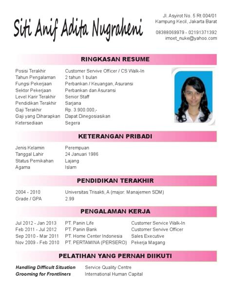 format curriculum vitae yang menarik what your resume