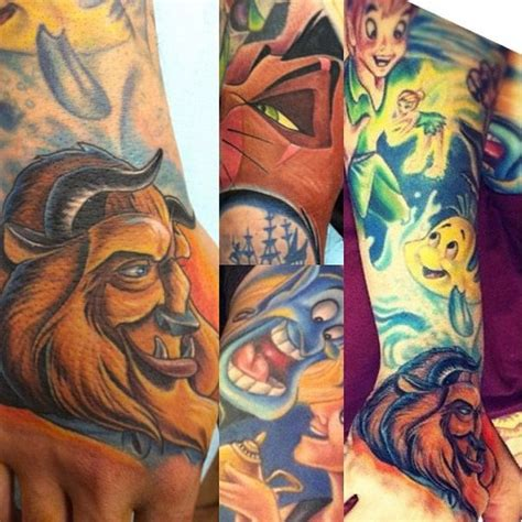disney character tattoos pin by danielle taran on cool tattoos