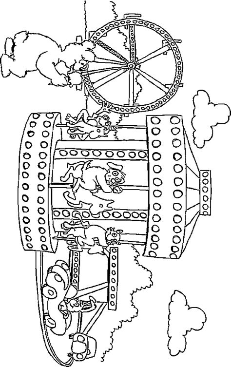 kids summer coloring printables flowers amusement parks