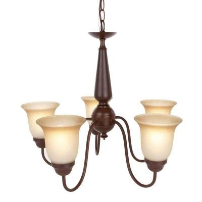 Home Depot Dining Room Lights Commercial Electric 5 Light Nutmeg Reversible Chandelier Efh8195m The Home Depot