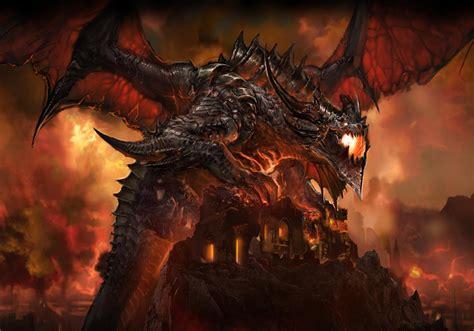 deathwing  destroyer art world  warcraft cataclysm art gallery