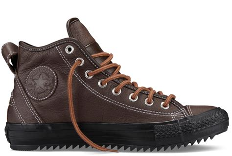 converse winter boots converse ct hollis winter weight leather boot choc brown 6