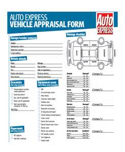 Parts Exchange Sle Car Appraisal Form 7 Free Documents In Pdf