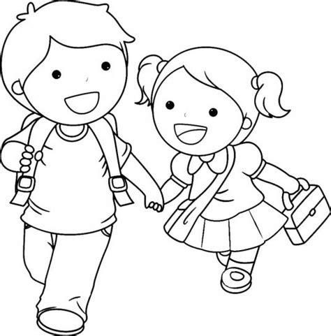 imagenes de niños jugando para colorear e imprimir ni 241 os a la escuela para colorear e imprimir la traves 237 a