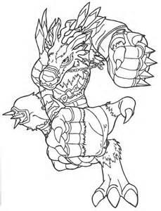 Digimon Weregarurumon Coloring Pages Sketch Page sketch template