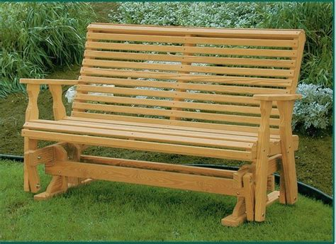 pine wood roll  glider bench  dutchcrafters amish