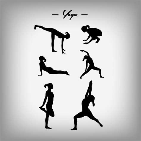 imagenes yoga vector dise 241 o de siluetas de mujer haciendo yoga descargar