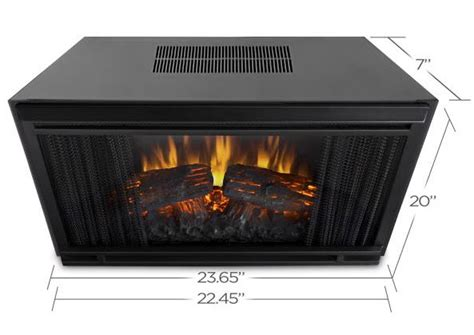 24 quot real electric firebox insert