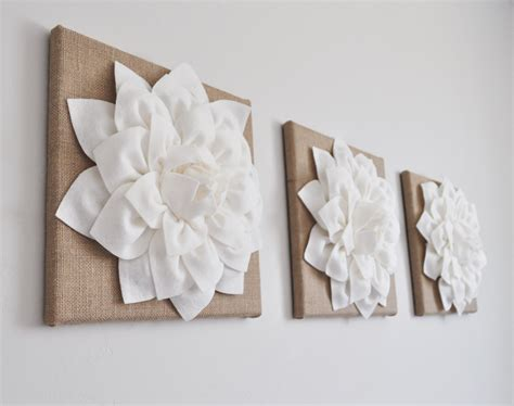 shabby chic wall wall burlap decor or country