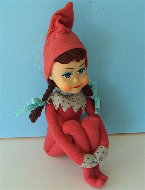 Vintage On The Shelf Doll by Vintage 1963 Kitschy Kamar Knee Hugger Big Pink Pixie