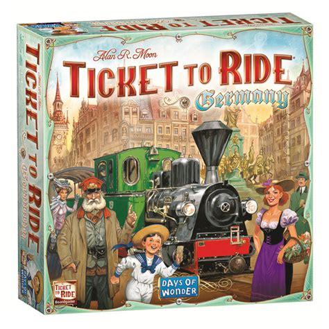 Ticket To Ride Germany Original Board ticket to ride germany board the gamesmen