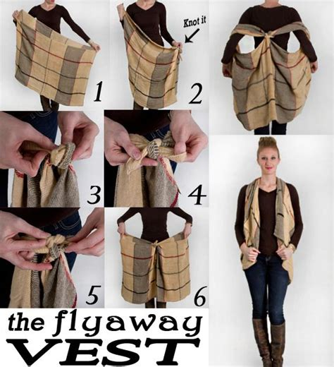 25 best ideas about scarf vest on scarf to