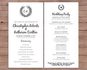 wedding program order wedding program order of service by darlingpapercompany on