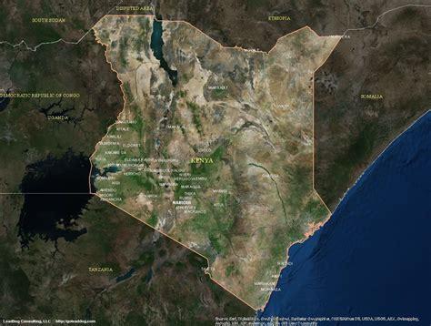 satellite maps kenia satelliten karte