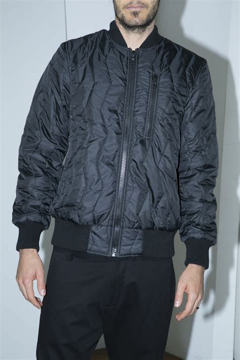 Bomber Quilted Jacket by Christopher Raeburn Quilted Bomber Jacket In Black For