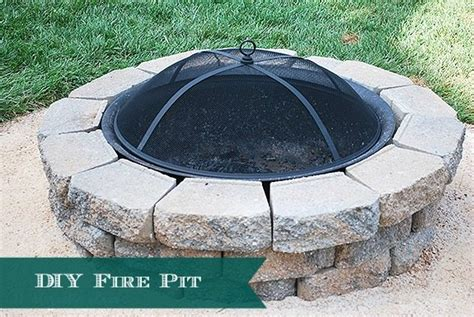 how to build a backyard how to build a diy a backyard fire pit 11 magnolia lane