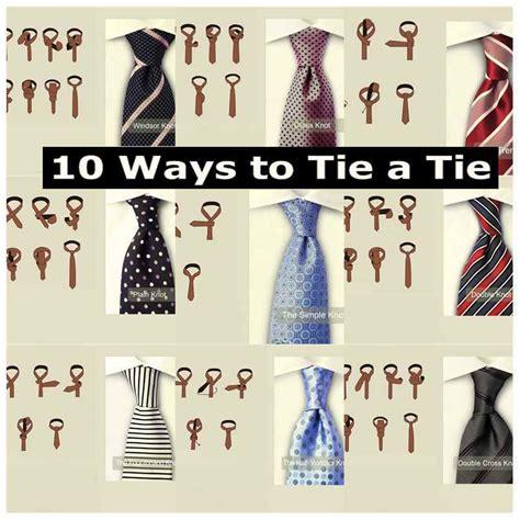 10 ways to tie a tie