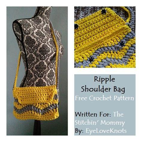 crochet ripple bag pattern ripple shoulder bag free crochet pattern free crochet
