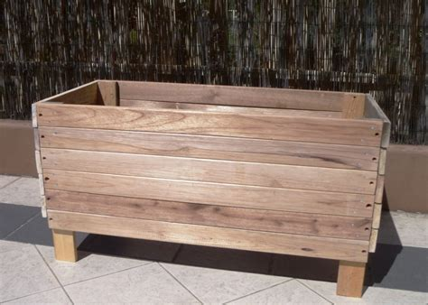 Raised Planter Boxes With Legs by Large Reusable And Reclaimed Raised Wood Planter Boxes