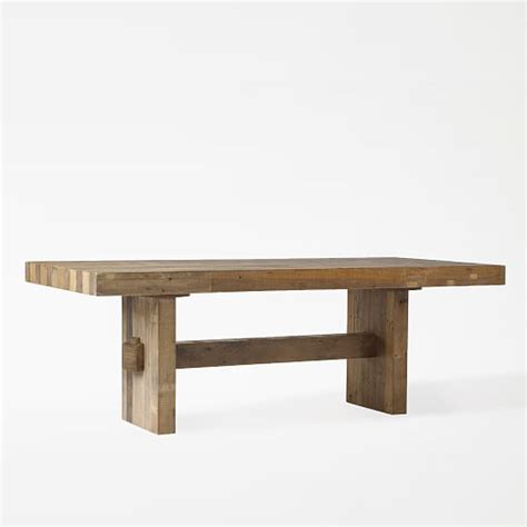 a dining table from reclaimed wood emmerson 174 reclaimed wood dining table west elm
