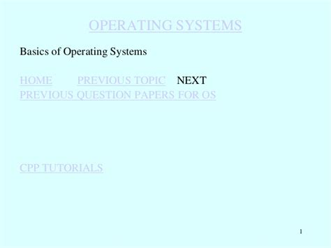 tutorial questions on operating system 2 basics of operating systems