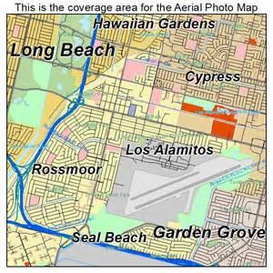 aerial photography map of los alamitos ca california