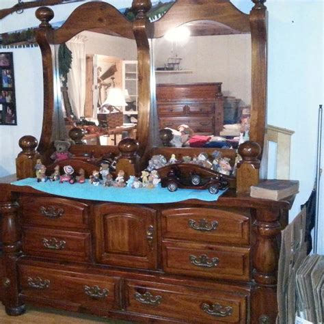 paul bunyan king bedroom set best 2 piece large paul bunyan double mirror dresser for