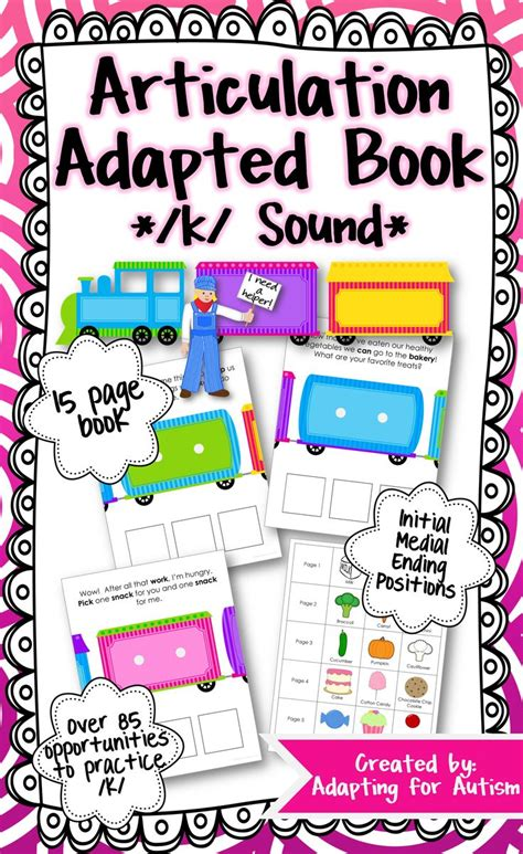 articulations books articulation adapted book k speech therapy